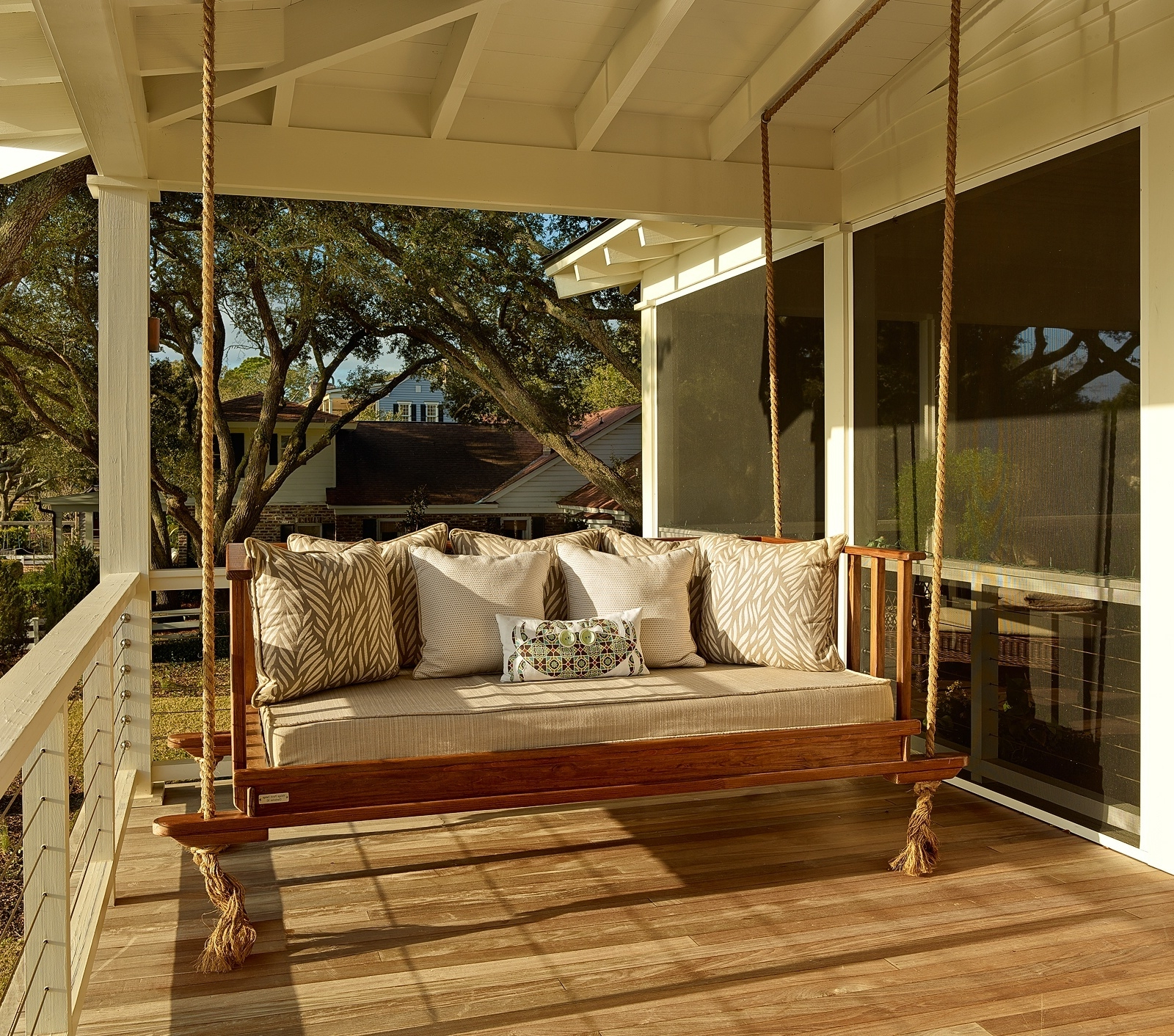 Teak Porch Swings With Popular Teak Porch Swing With Rope (View 8 of 25)