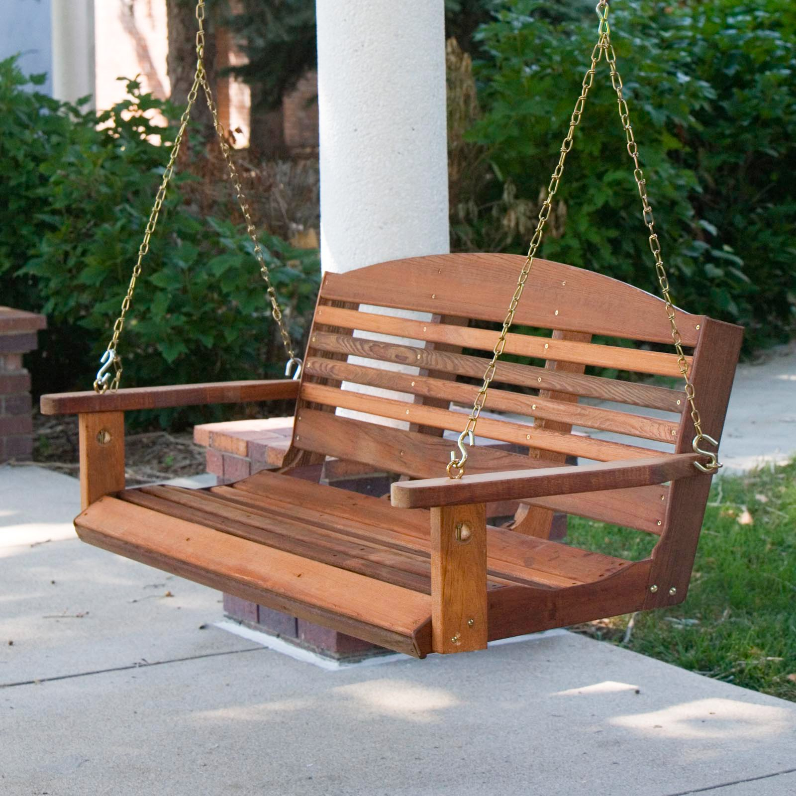 Trendy A & L Furniture Western Red Cedar Classic Curved Back With Regard To Classic Porch Swings (View 9 of 25)