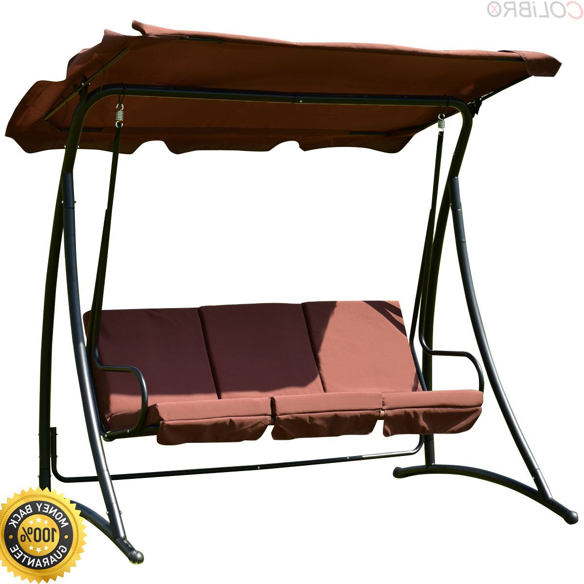 Trendy Cheap 3 Person Outdoor Swing With Canopy, Find 3 Person In Patio Glider Hammock Porch Swings (View 21 of 25)