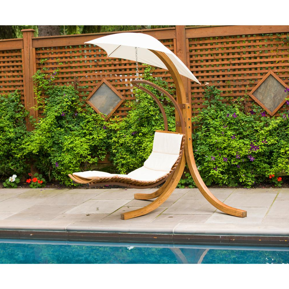 Trendy Leisure Season Patio Swing Lounge Chair With Umbrella Inside Garden Leisure Outdoor Hammock Patio Canopy Rocking Chairs (View 14 of 25)