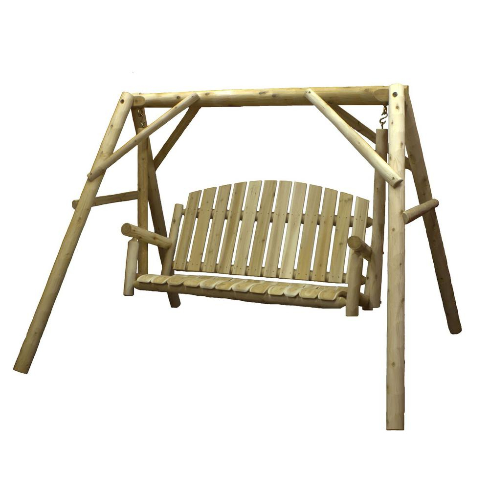 Trendy Patio Porch Swings With Stand With Lakeland Mills 54 In (View 14 of 25)