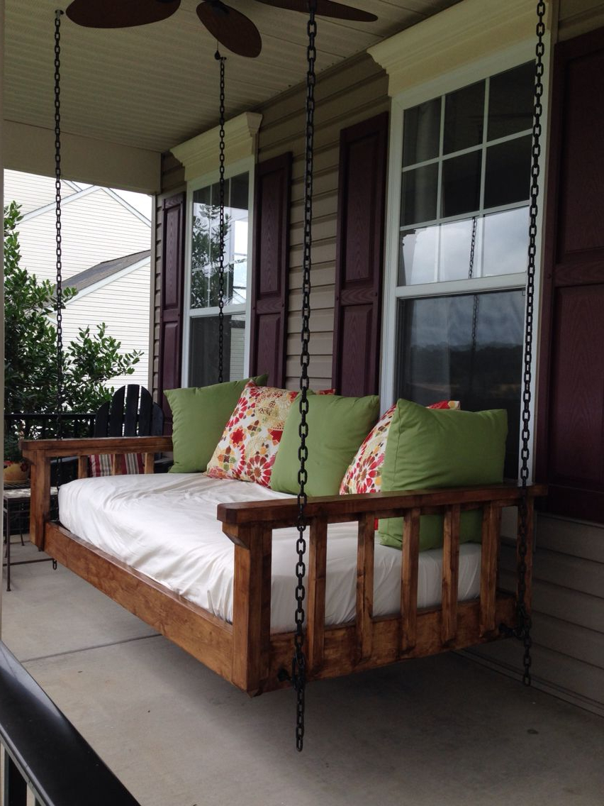 Trendy Porch Swings Inside Turned An Old Twin Mattress Into The Best Couch Bed Swing (View 15 of 26)