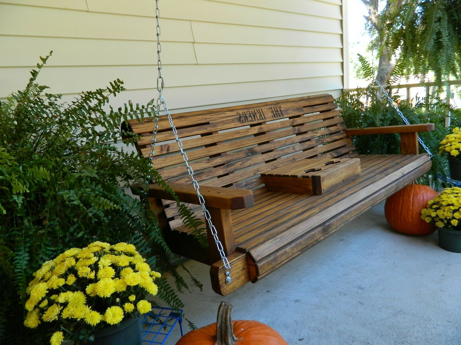 Trendy Southern Swings Handmade 5ft Heavy Duty Porch Or Patio Swing With 5 Ft Cedar Swings With Springs (View 9 of 25)