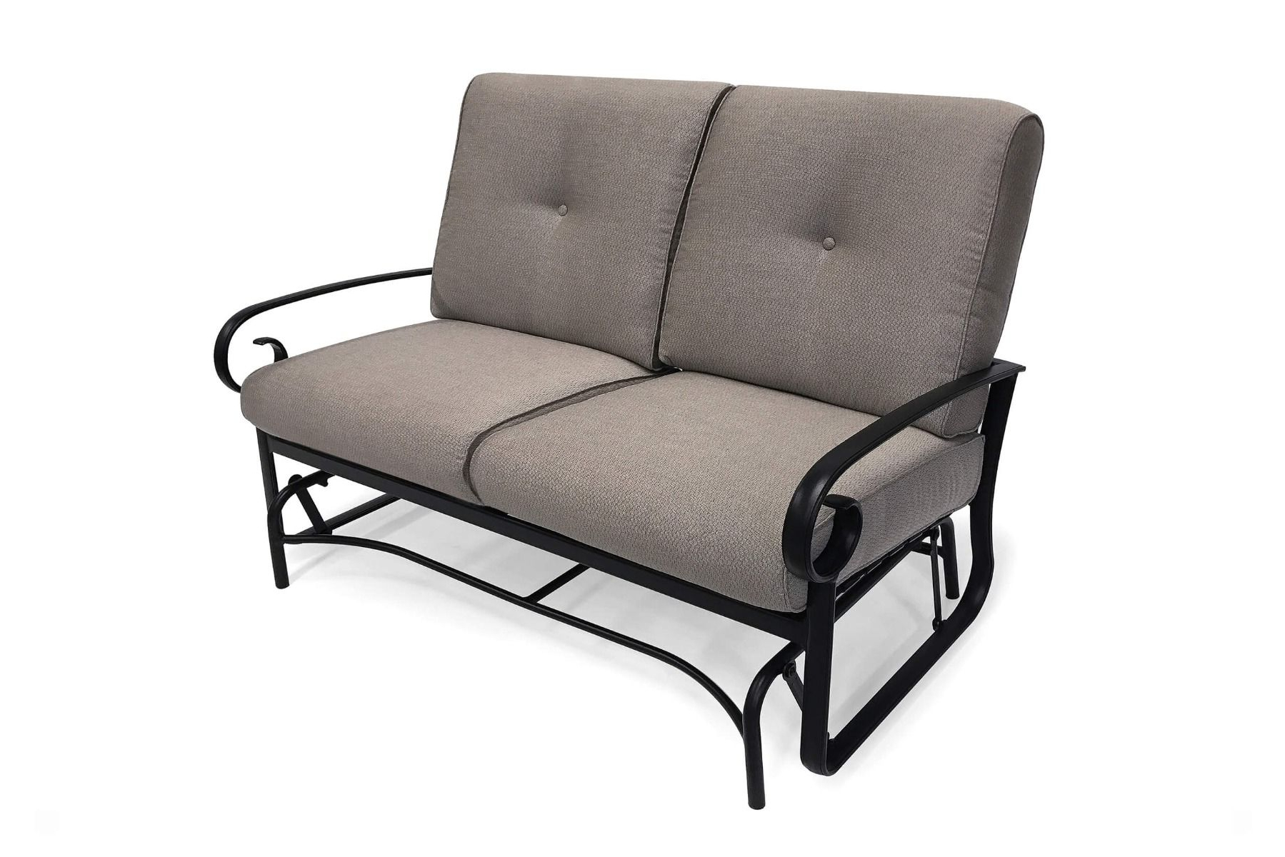 Veneto Cushion Loveseat Glider Regarding 2020 Outdoor Loveseat Gliders With Cushion (View 16 of 25)
