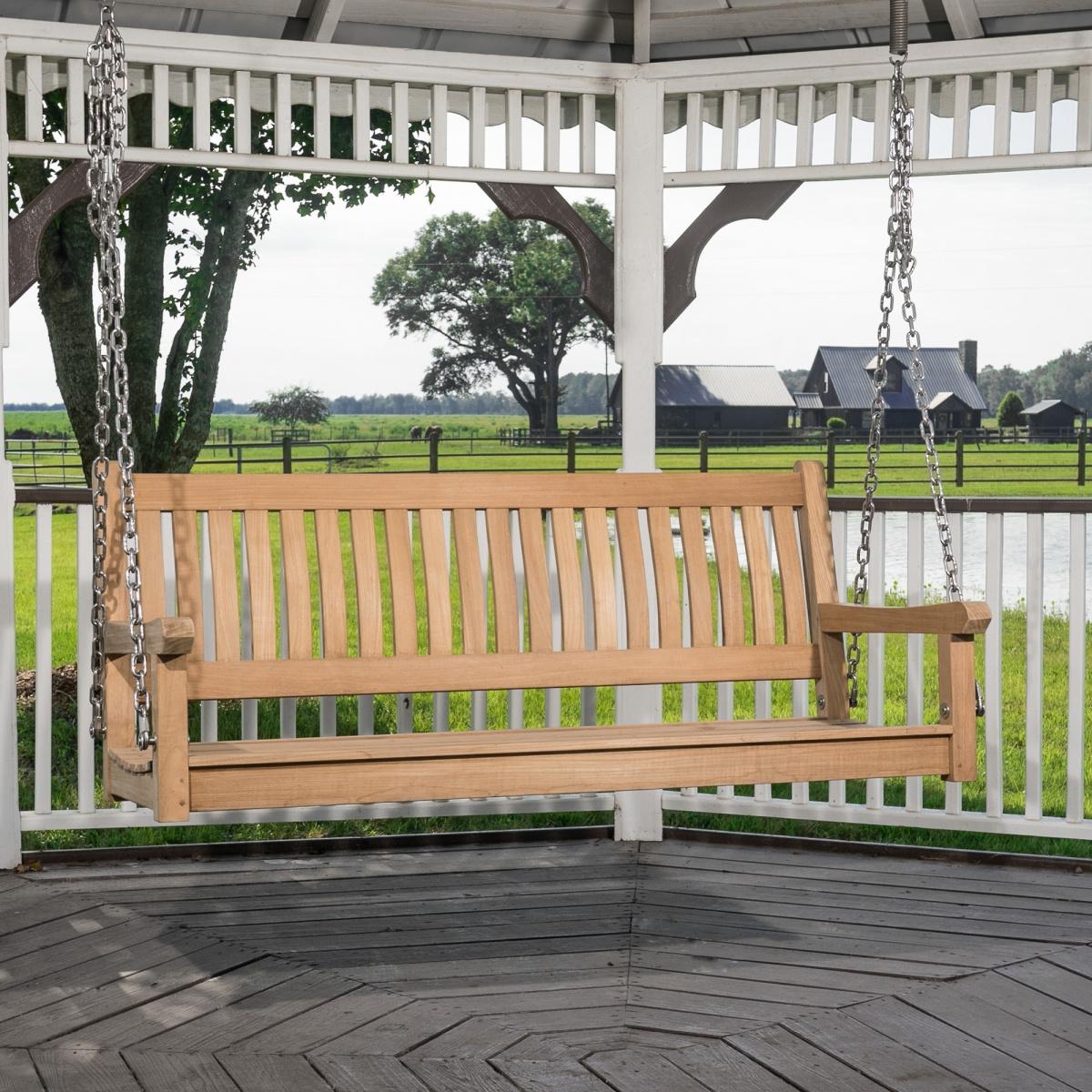Veranda Hanging Teak Porch Swing Within 2020 Teak Porch Swings (View 13 of 25)