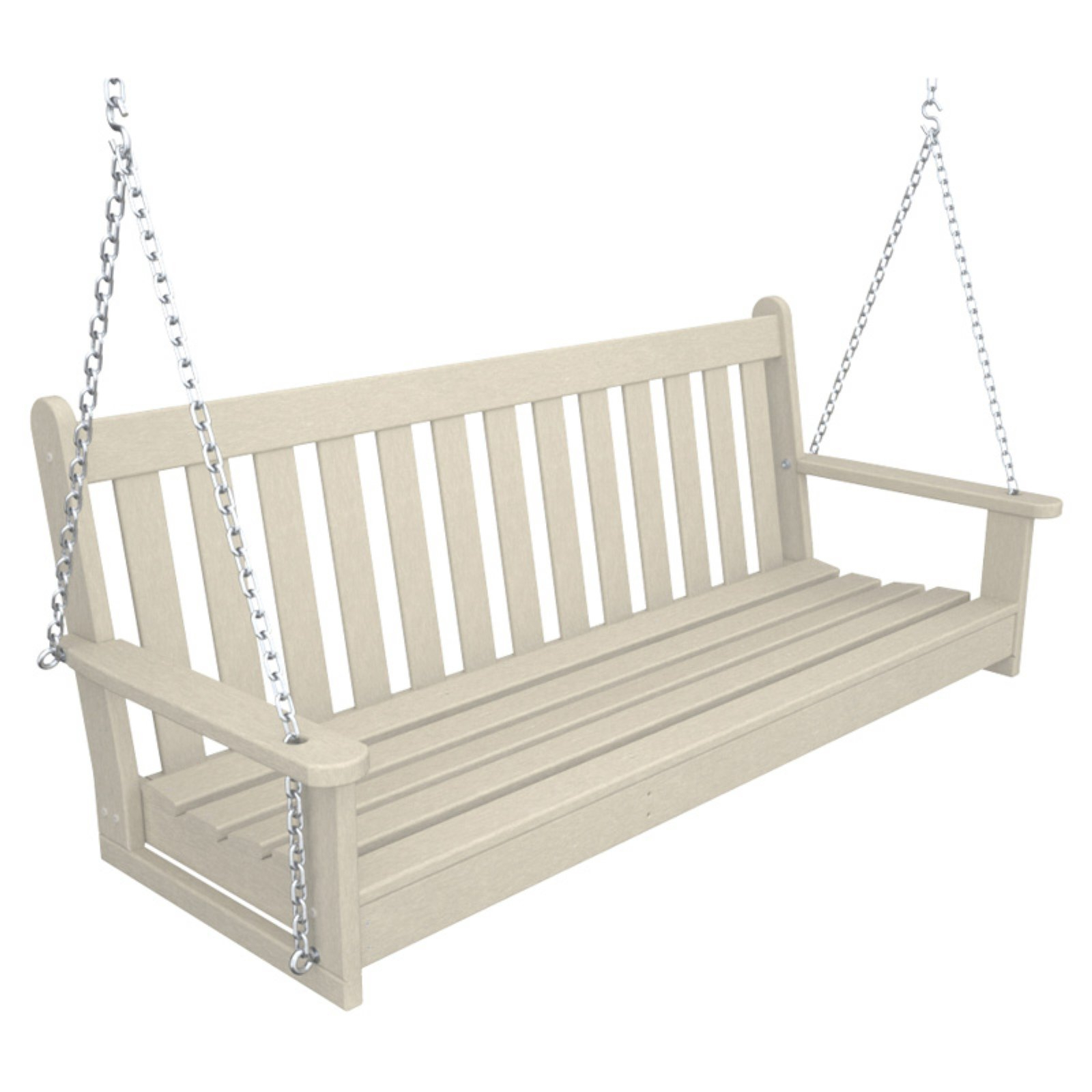 Vineyard Porch Swings With Regard To Widely Used Polywoodâ® Vineyard Recycled Plastic 5 Ft. Porch Swing Sand (Gallery 5 of 25)
