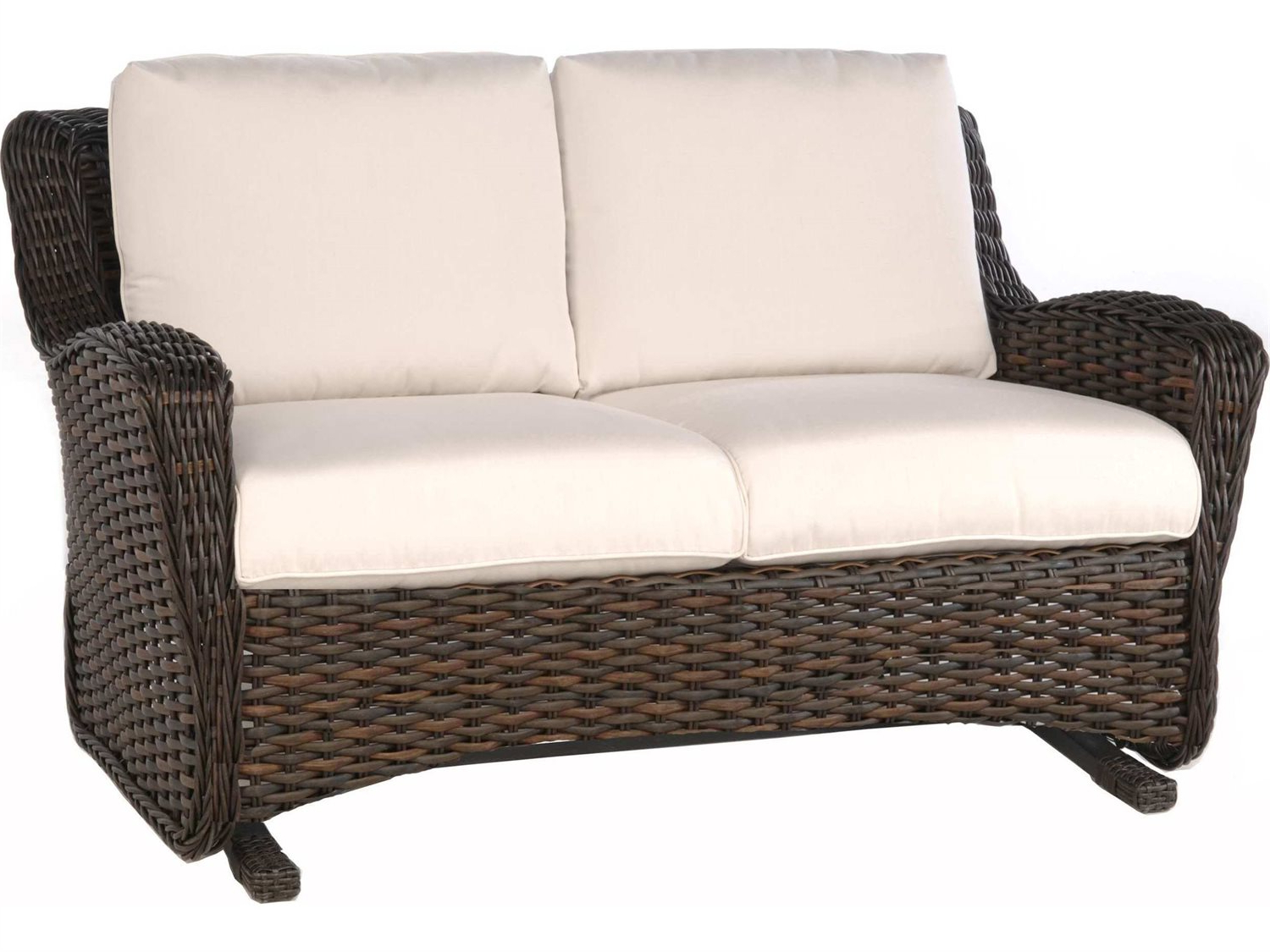 Well Known Outdoor Loveseat Gliders With Cushion Intended For Ebel Dreux Loveseat / Loveseat Glider Replacement Cushions (View 23 of 25)