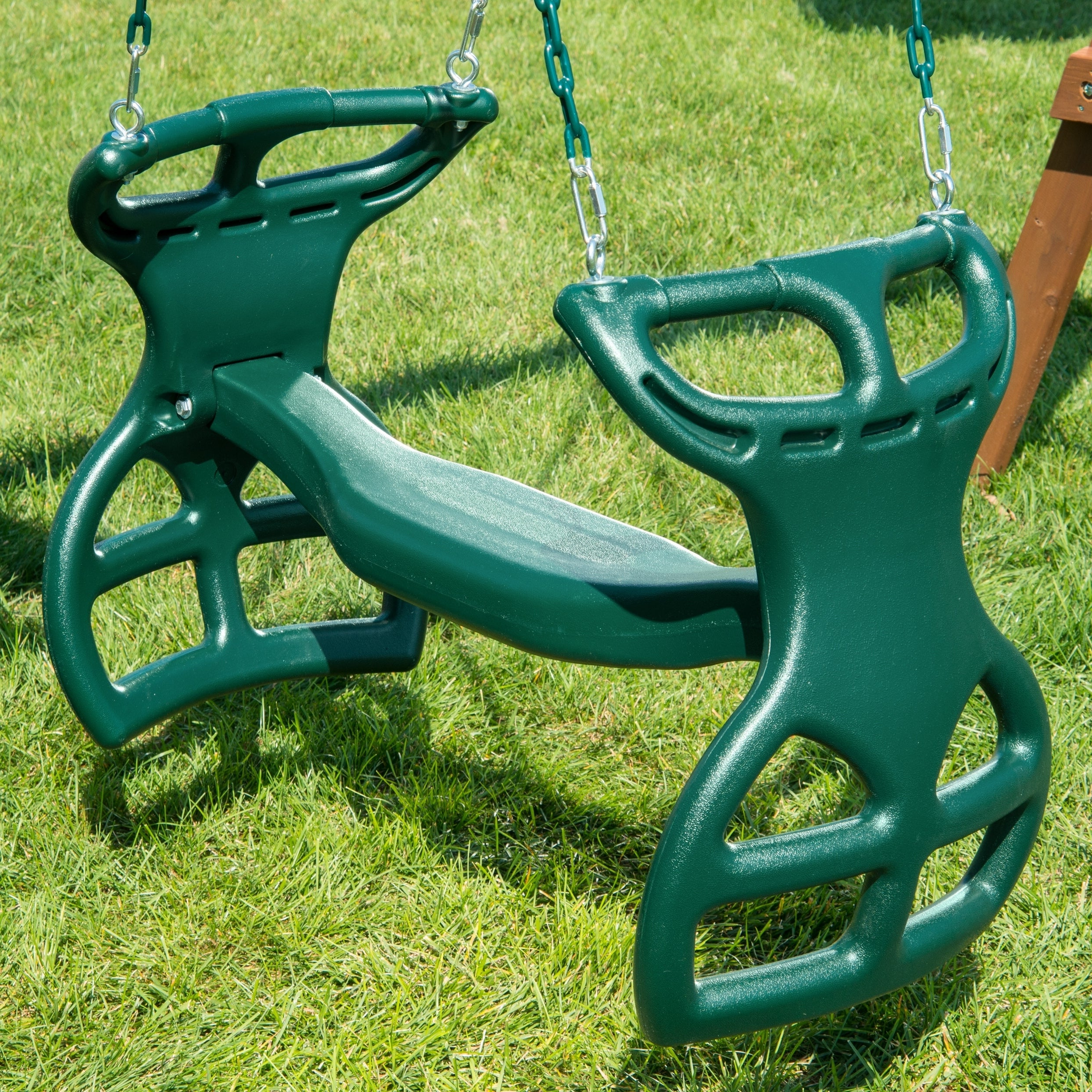 "Well Known Swing N Slide Dual Ride Glider With Chains – Green – 38"" L X 16"" W X 24"" H With Dual Rider Glider Swings With Soft Touch Rope (View 24 of 25)"