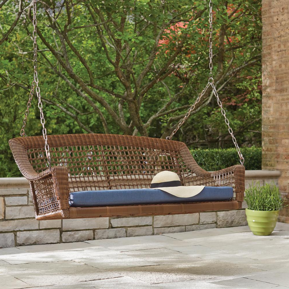 Well Liked 2 Person Black Wood Outdoor Swings Regarding Modern Swing For Home Oonjal Wooden In South Indian (Gallery 20 of 25)