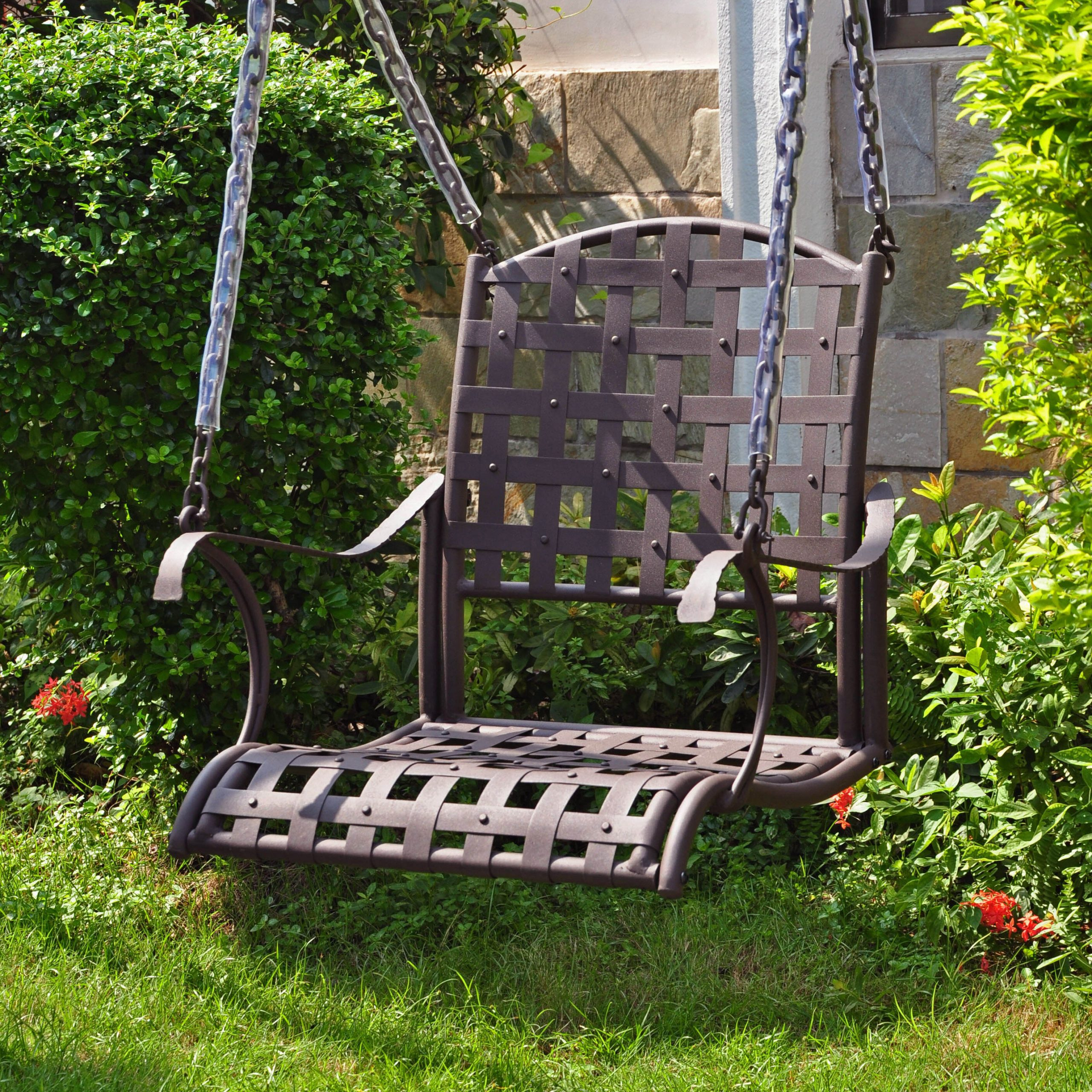 Well Liked 2 Person Hammered Bronze Iron Outdoor Swings Inside Schilling Porch Swing (View 19 of 25)