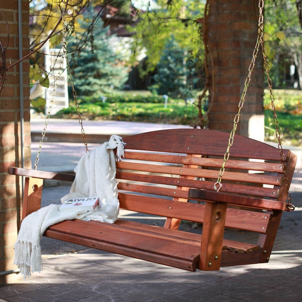 Well Liked 5 Ft Cedar Swings With Springs With Regard To Cedar Porch Swing Amish Made Outdoor Furniture Home Decor 5 (Gallery 3 of 25)
