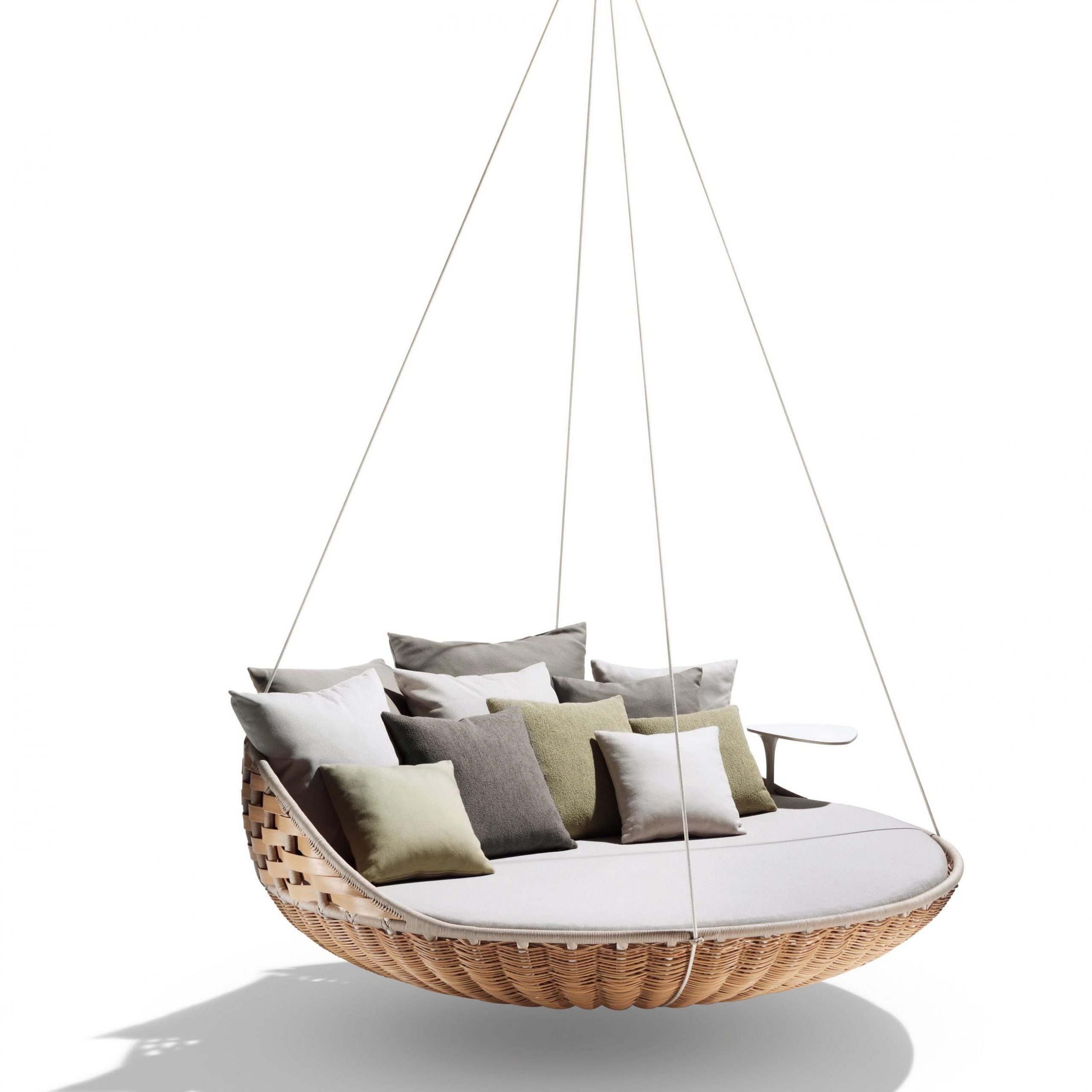 Well Liked Outdoor Wicker Plastic Half Moon Leaf Shape Porch Swings For Dedon Swingrest Hanging Lounger Sofa (View 25 of 25)