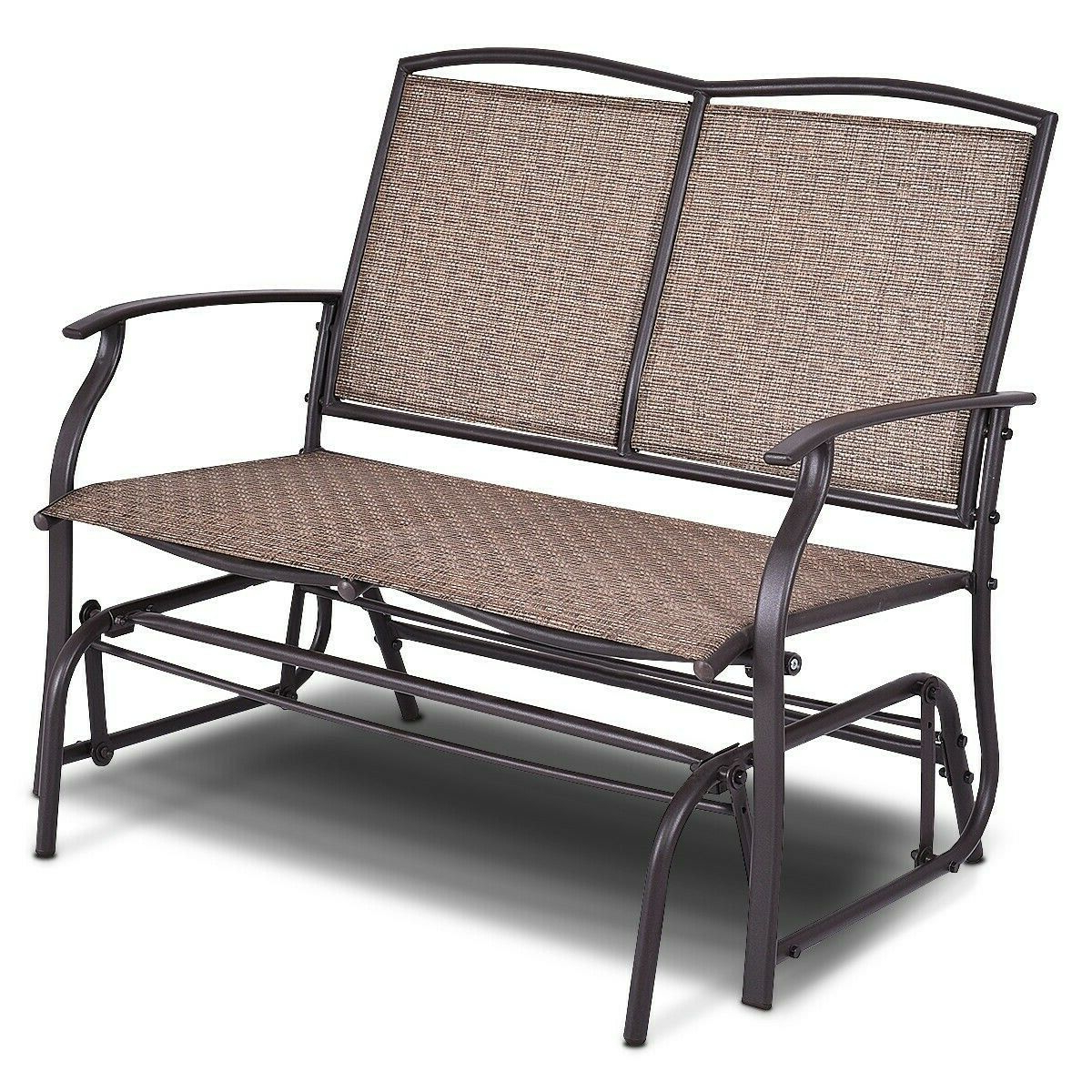 Widely Used Outdoor Patio Swing Glider Bench Chair S With Regard To Double 2 Person Outdoor Patio Porch Swing Glider Loveseat Bench Rocking Chair (View 8 of 25)