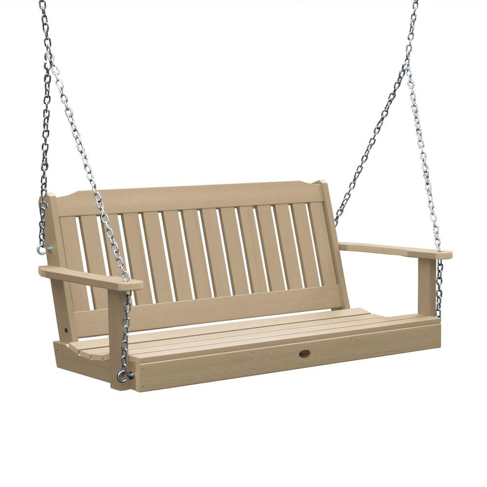Wood – Porch Swings – Patio Chairs – The Home Depot In 2020 2 Person White Wood Outdoor Swings (View 12 of 25)