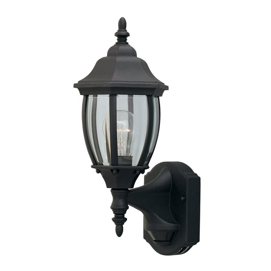 2018 Castellanos Black 14.25'' H Outdoor Wall Lanterns With Shop Designer's Fountain Motion Detectors  (View 1 of 15)
