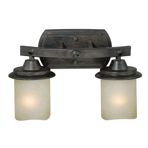 2018 Sheard Textured Black 2 – Bulb Wall Lanterns With Regard To Vaxcel Lighting W0182 Halifax 2 Light Wall Sconce With (View 12 of 15)