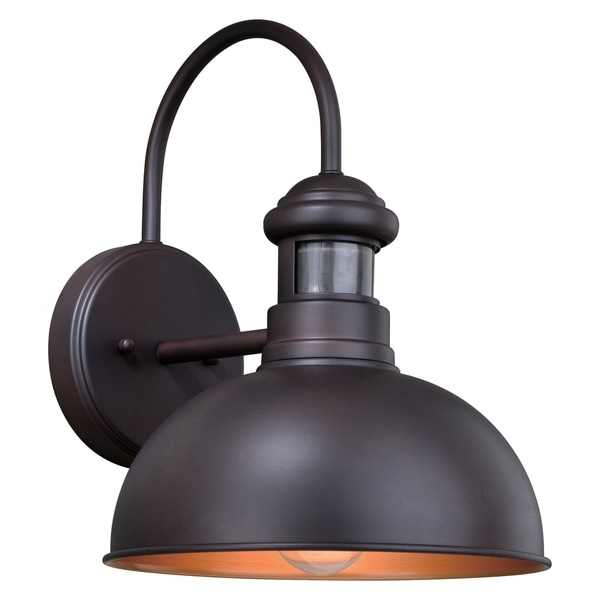 2018 Shop Franklin Bronze Motion Sensor Dusk To Dawn Farmhouse Throughout Ranbir Oil Burnished Bronze Outdoor Barn Lights With Dusk To Dawn (View 11 of 15)