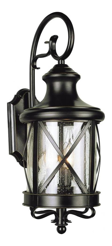 2018 Trans Globe Two Light Rubbed Oil Bronze Clear Seeded Glass Pertaining To Tangier Dark Bronze Wall Lanterns (View 15 of 15)