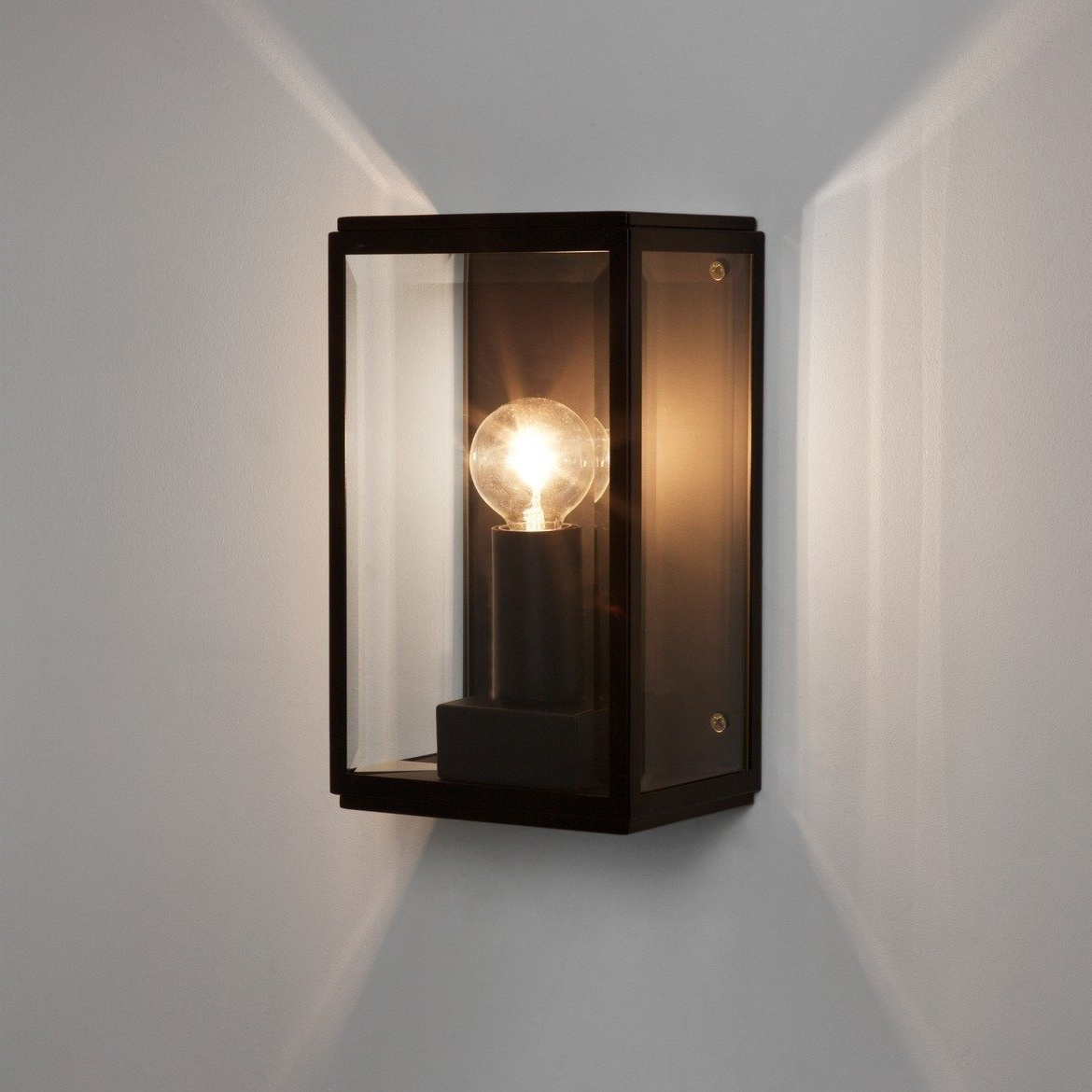 2019 Astro Lighting – Homefield 130 1095013 (7590) – Ip44 Within Sheard Textured Black 2 – Bulb Wall Lanterns (View 4 of 15)