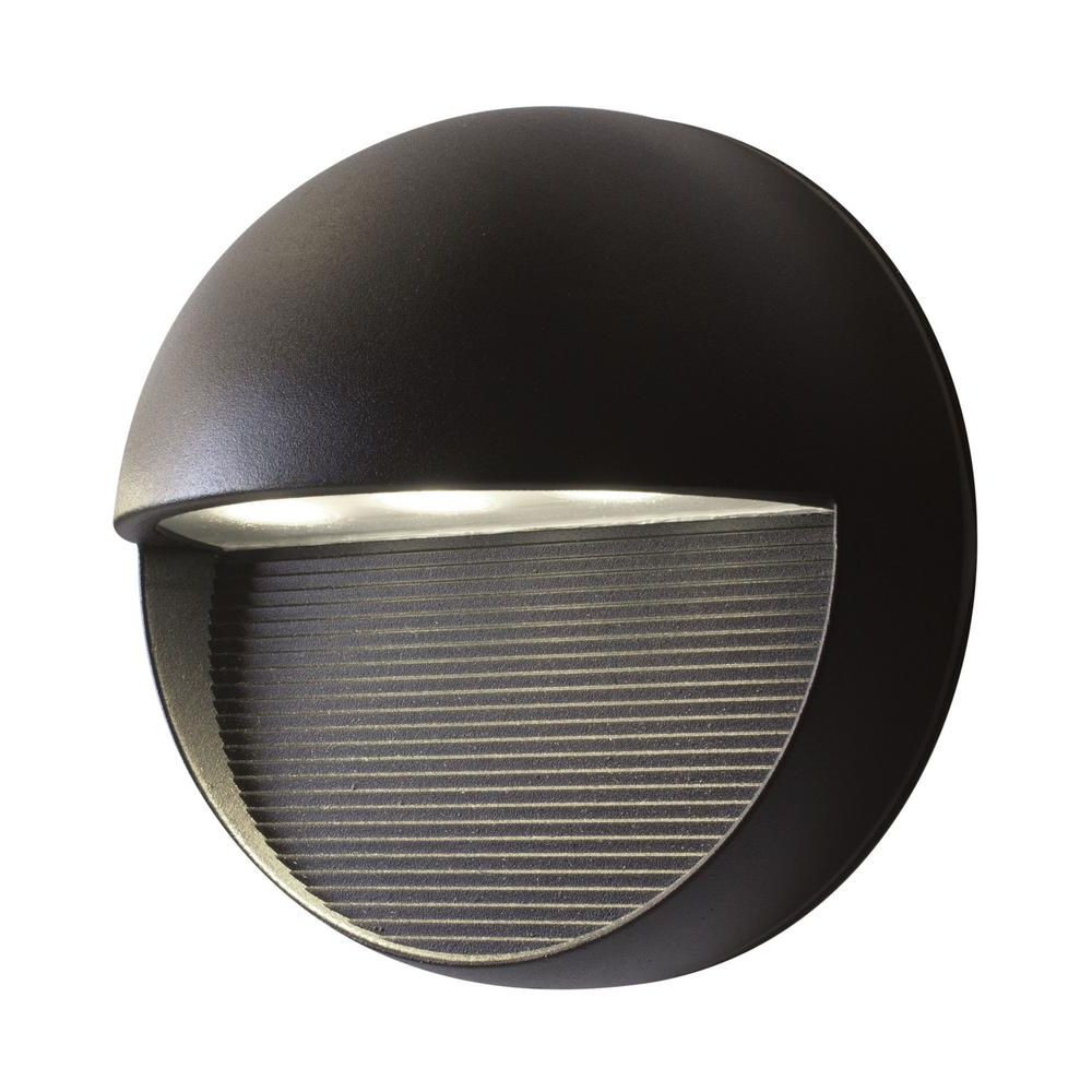 2019 Bazz Exil 1 Light Black Outdoor Integrated Led Wall Mount Intended For Whisnant Black Integrated Led Frosted Glass Outdoor Flush Mount (View 12 of 15)