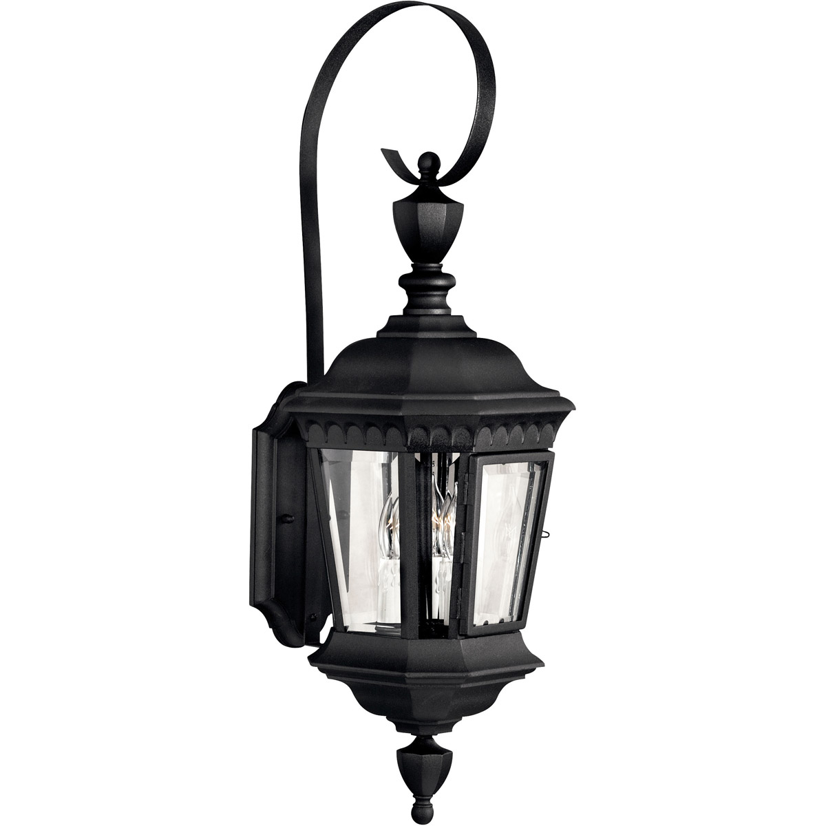 2019 Hinkley Lighting 1704bk Camelot 3 Light 27 Inch Black Throughout Roden Black 3 Bulb Outdoor Wall Lanterns (View 13 of 15)