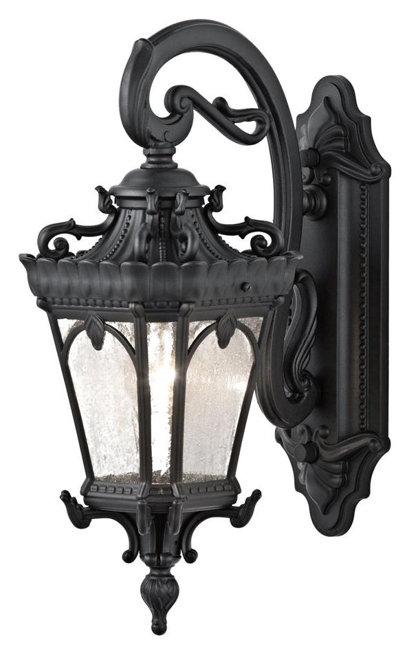 Featured Photo of Sheard Textured Black 2 – Bulb Wall Lanterns