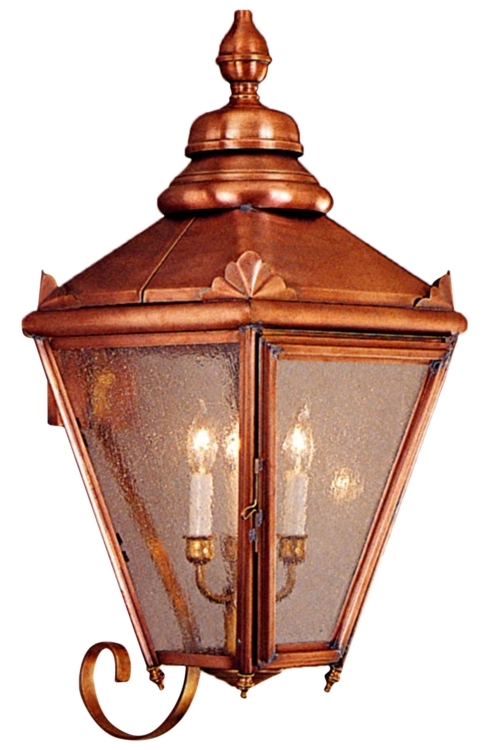 2019 Turcot 12'' H Wall Lanterns In Hampton Copper Lantern Wall Light With Bracket Outdoor (View 14 of 15)