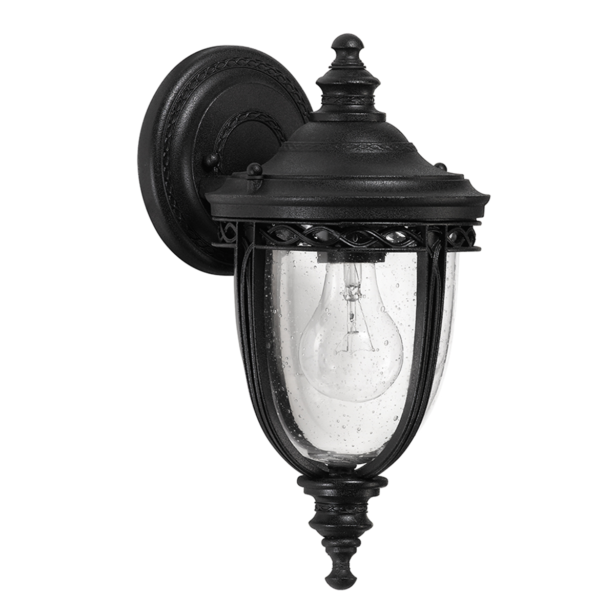 25083 – 1 Light Small Wall Lantern In Textured Black Intended For Favorite Merild Textured Black Wall Lanterns (View 15 of 15)