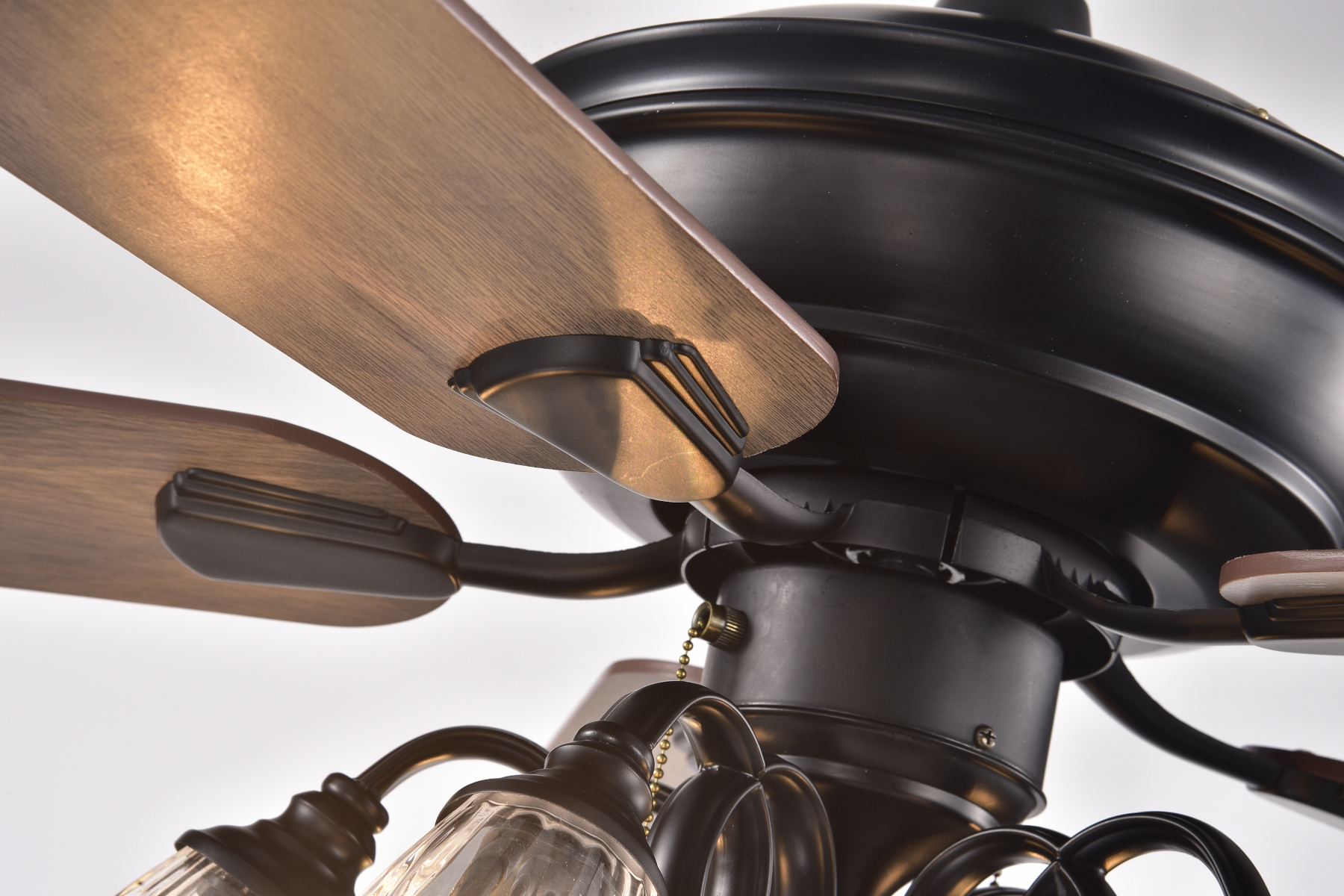 52 In Indoor Black Brown Reversible Ceiling Fan With Clear Regarding Well Known Nayen Black 23'' H Wall Lanterns (View 9 of 15)