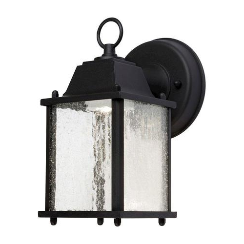 8.75 In H Black Led Outdoor Wall Light In The Outdoor Wall With Most Recently Released Carner  (View 9 of 15)