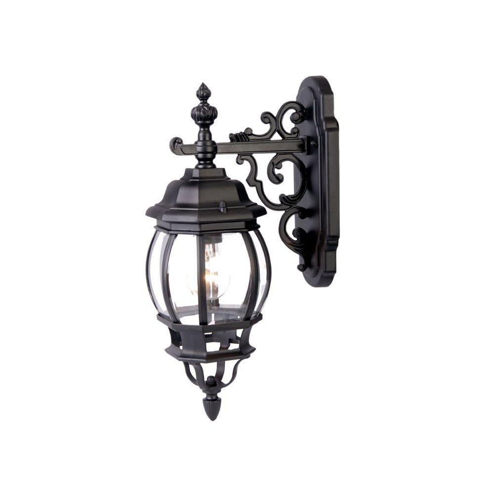 Acclaim Lighting Chateau Collection 1 Light Matte Black Throughout Best And Newest Keiki Matte Black 11'' H Outdoor Wall Lanterns (View 3 of 15)