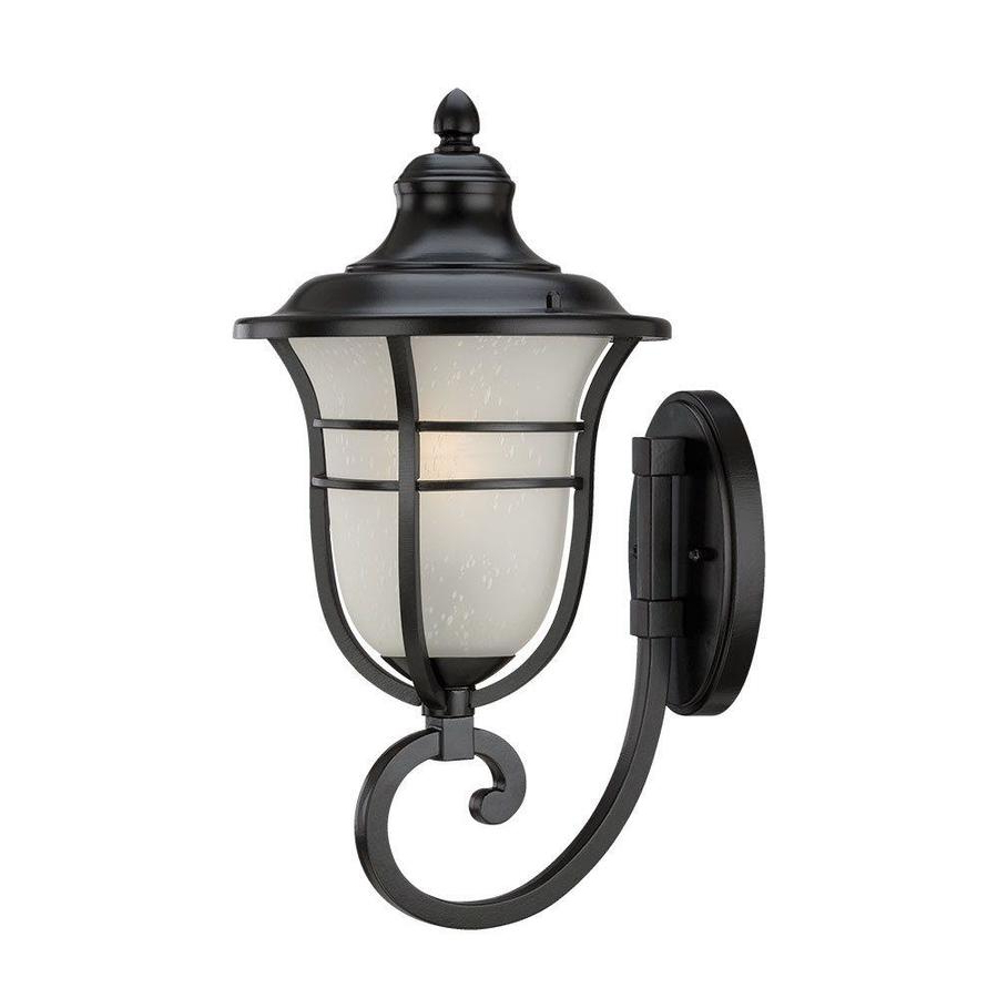 Acclaim Lighting Montclair 18 In H Matte Black Medium Base In Most Popular Anner 18'' H Seeded Glass Outdoor Wall Lanterns (View 2 of 15)