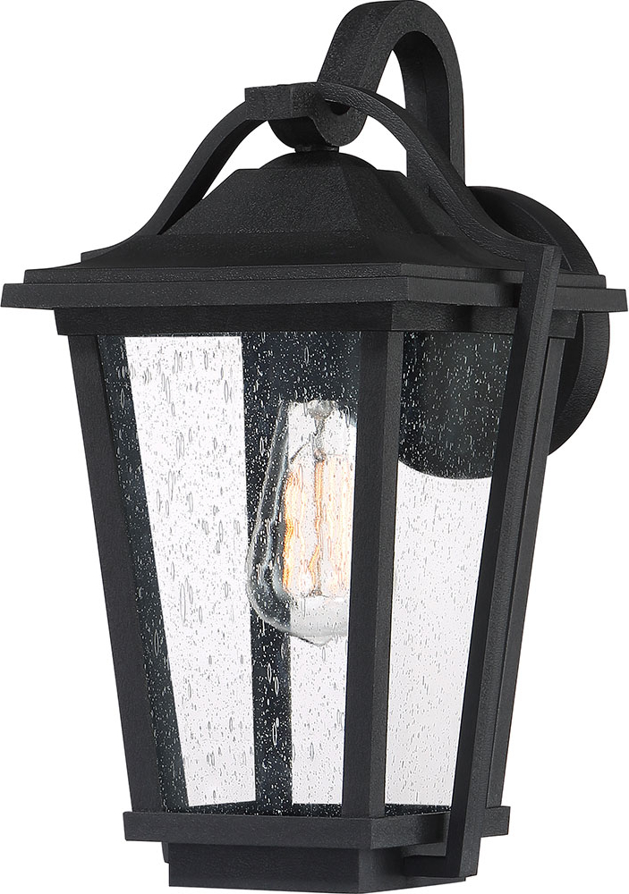 """Ainsworth Earth Black Outdoor Wall Lanterns Throughout Recent Quoizel Drs8409ek Darius Earth Black Outdoor 9"""" Wall Light (View 10 of 15)"""