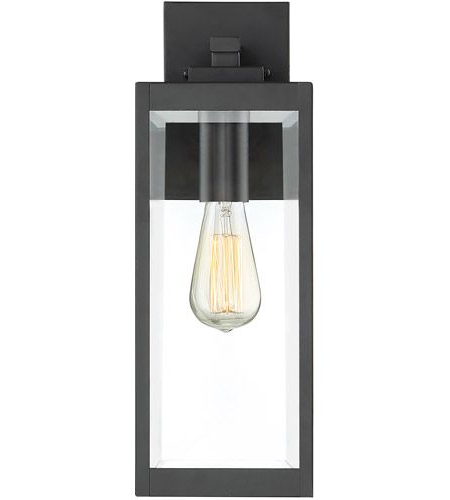 Ainsworth Earth Black Outdoor Wall Lanterns With Regard To Current Quoizel Wvr8406ek Westover 1 Light 17 Inch Earth Black (View 9 of 15)