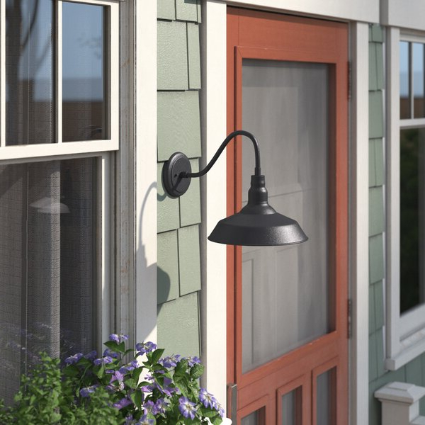 Andover Mills™ Aleena 9.88'' H Glass Outdoor Barn Light Pertaining To Well Known Aleena  (View 2 of 15)