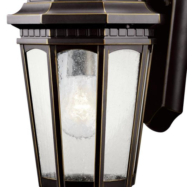 Anner 18'' H Seeded Glass Outdoor Wall Lanterns In Famous Kichler Outdoor Lighting Replacement Glass – Outdoor (View 14 of 15)