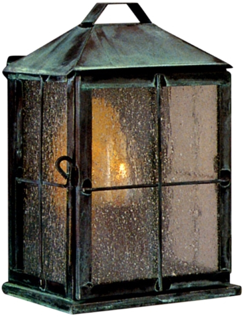 Anner 18'' H Seeded Glass Outdoor Wall Lanterns In Favorite New Hope Colonial Copper Lantern Wall Sconce Garden Light (View 15 of 15)