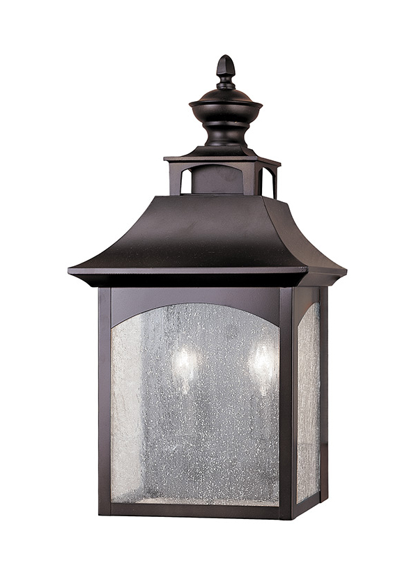 Anner 18'' H Seeded Glass Outdoor Wall Lanterns Throughout Widely Used Ol1003orb,2 – Light Wall Lantern,oil Rubbed Bronze (View 13 of 15)