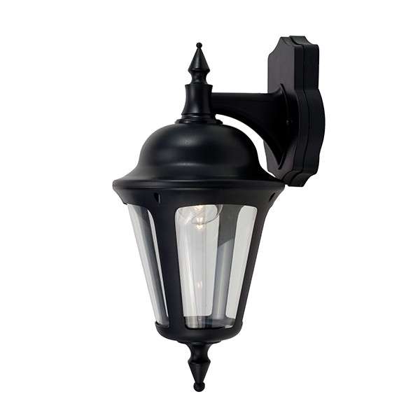 Ansell Latina 42w E27 Wall Lantern Black At Uk Electrical With Well Liked Armanno Matte Black Wall Lanterns (View 11 of 15)