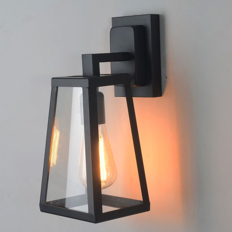 Antique Matte Glass Black Lantern Outdoor Wall Sconce Within Best And Newest Rickey Matte Antique Black Wall Lanterns (View 3 of 15)