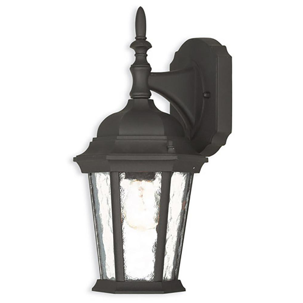 Armanno Matte Black Wall Lanterns Intended For Recent Livex Lighting Hamilton 1 Light Textured Black Outdoor (View 8 of 15)