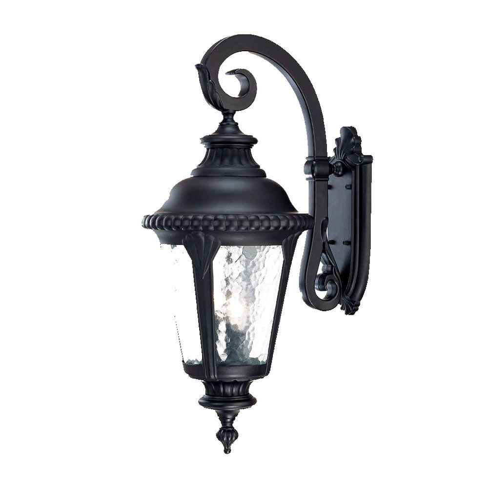 Armanno Matte Black Wall Lanterns Pertaining To Most Up To Date Acclaim Lighting Surrey Collection 3 Light Matte Black (View 4 of 15)