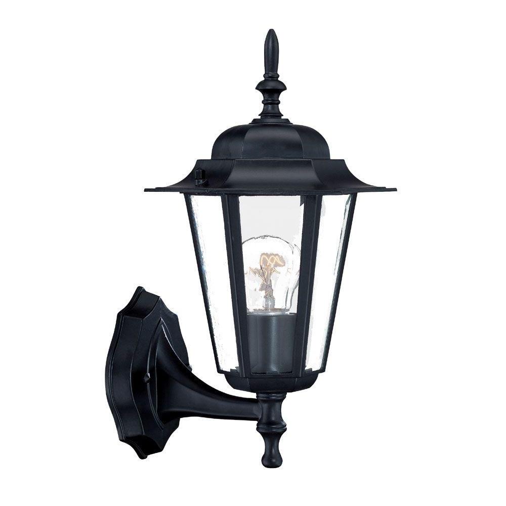 Armanno Matte Black Wall Lanterns Regarding 2019 Acclaim Lighting Camelot Collection 1 Light Matte Black (View 5 of 15)
