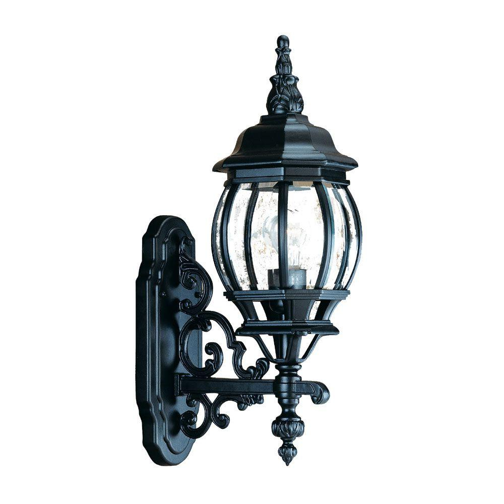 Armanno Matte Black Wall Lanterns Throughout Widely Used Acclaim Lighting Chateau Collection 1 Light Matte Black (View 3 of 15)