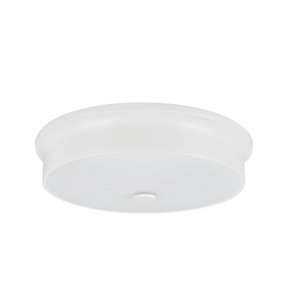 Featured Photo of Whisnant Black Integrated Led Frosted Glass Outdoor Flush Mount