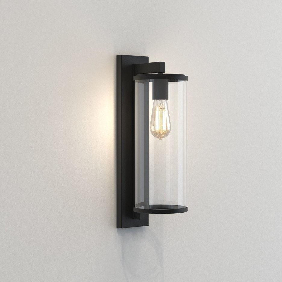 Astro Lighting – Pimlico 500 1413004 – Ip23 Textured Black Regarding 2018 Sheard Textured Black 2 – Bulb Wall Lanterns (View 11 of 15)