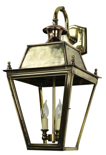 Balmoral Large Brass 3 Light Victorian Downward Outdoor Regarding Most Recently Released Brookland Outdoor Wall Lanterns (View 10 of 15)