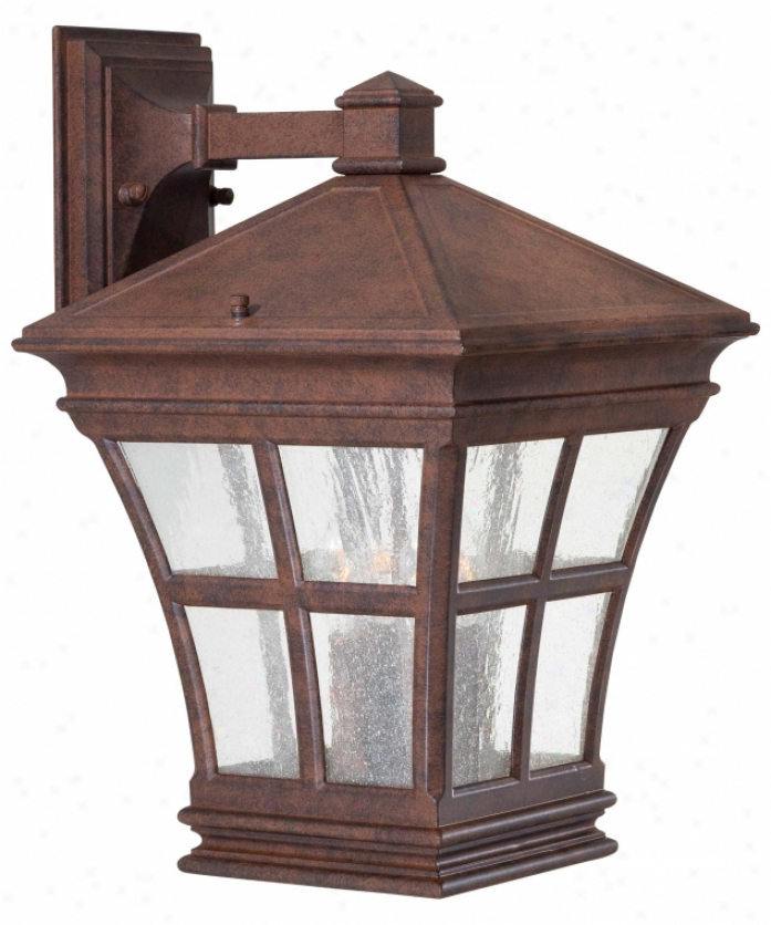 Bayou 17'' H Beveled Glass Outdoor Wall Lanterns In Newest Minka Lavery 8293 91 Mission Bay 4 Light Outdoor Wall (View 13 of 15)