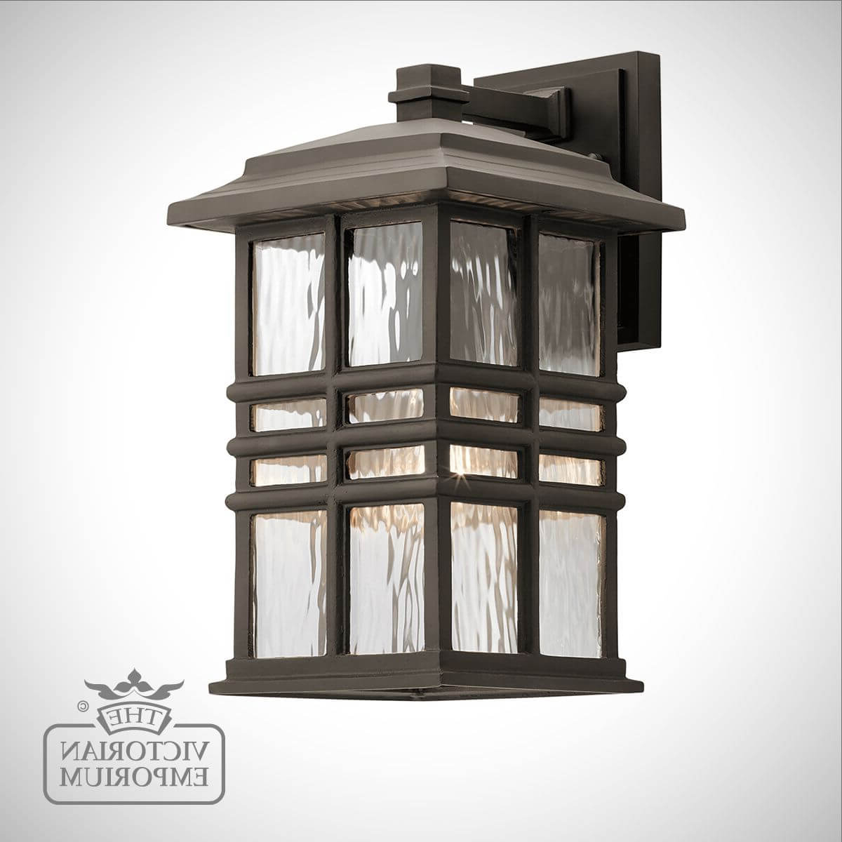 Beacon Exterior Wall Light In A Choice Of Sizes With Regard To Favorite Tilley Olde Bronze Water Glass Outdoor Wall Lanterns (View 8 of 15)