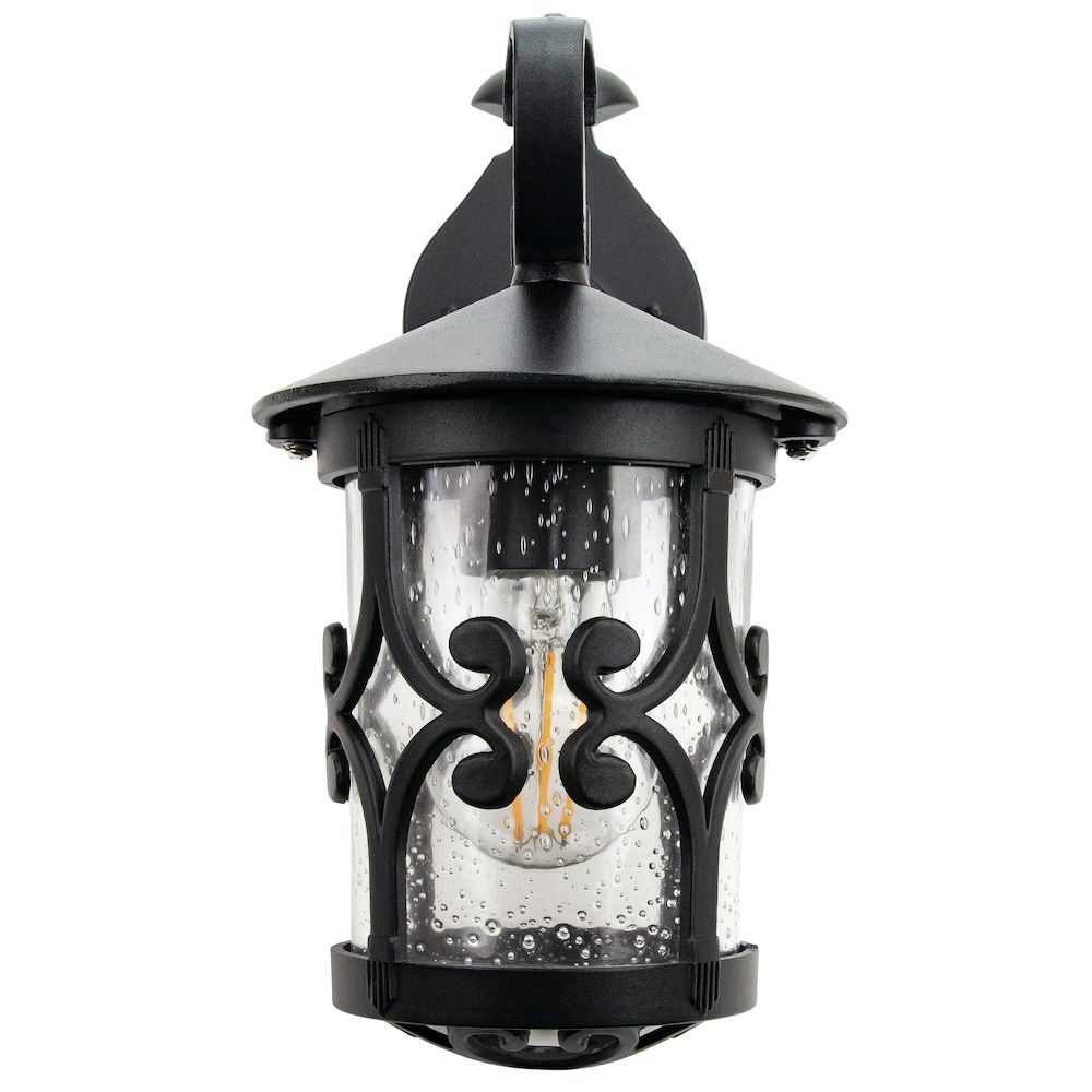 Bellefield Black 15'' H Outdoor Wall Lanterns Intended For Best And Newest Classic Matt Black Lantern Ip44 Outdoor Wall Light With (View 14 of 15)